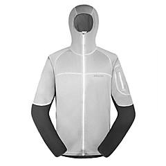 AMADIS Men's White+Gray Polyester Long Sleeve Anti-UV Fishing Jacket