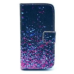 Custodia in pelle diamante Frammento modello PU con la fessura per carta e supporto per Samsung Galaxy S4 mini I9190