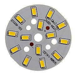 7W 600-650LM Ενότητα Warm White Light 5730SMD Ολοκληρωμένη LED (21-24V)