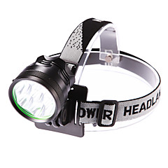 Headlamps LED 3 Mode 5000 Lumens Adjustable Focus / Waterproof Cree XM-L T6 18650Camping/Hiking/Caving / Everyday Use / Cycling / Hunting
