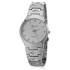 Unisex Round Dial Steel Band Quartz Wrist Watch (Assorted Colors) Cool Watches Unique Watches