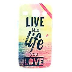 Life Live Sea Pattern Hard Case for Samsung Galaxy Core I8262