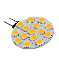 G4 15x5060SMD 3W 15LED Lämmin Valkoinen lamppu Lamppu