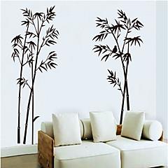 수묵화 대나무 패턴 벽 스티커 (1PCS)