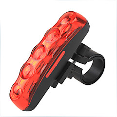 Cykellys Cykellys / Rear Bike Light LED Vanntett / Nedslags Resistent / baggrundslys Lumens Batteri Rød Cykling-YELVQI