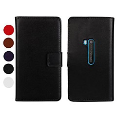Solid Color Pattern PU Leather Full Body Case with Stand and Card Slot for Nokia Lumia 920(Assorted Colors)