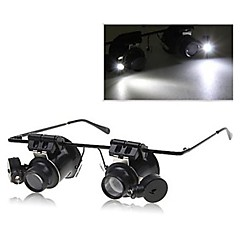 Glasses Type 20X Magnifier with White LED Light (4xCR1620)