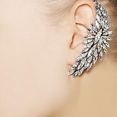 shixin® 패션 투명 diamanted 귀 커프 (1 개)