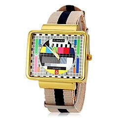 Hombre Reloj de Vestir Cuarzo Tejido Banda Múltiples Colores Marca- JUBAOLI