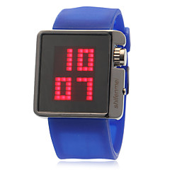 Women's LED Round Dial Silicone Band Quartz Analog Sport Watch (Assorted Colors)
