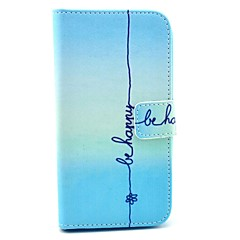 """Be Happy"" Words Pattern PU Leather Full Body Case for Samsung S3 I9300"