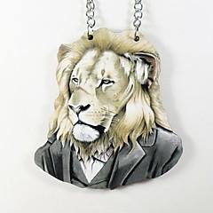 oroszlán minta fa nyaklánc