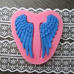 sepasang sayap kue fondant cetakan kue, l7cm * w7.5m * h1cm