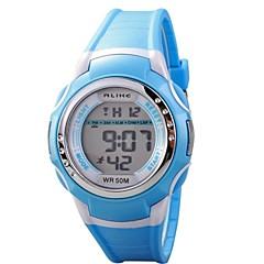 kinderen multi-functionele round lcd wijzerplaat digitale horloge 50m waterdicht (verschillende kleuren)