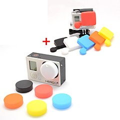 Professional Silicone Protective Lens Cap Set for GoPro Hero 3+ / Hero3 Plus