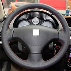 Xuji ™ Svart Original Läderratt Cover för Peugeot 206 207