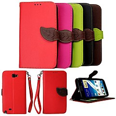KARZEA® Leaf Mixed Colors TPU Leather Full Body With Stand for Samsung Galaxy Note2 N7100 (Assorted Colors)