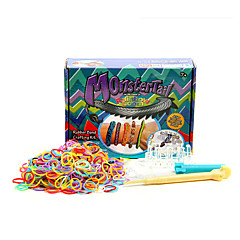 Rainbow Colorful Loom(Band 600PCS、A Waver、Hook、24 S Or C Hooks、Instructions)(Ramdon Color)