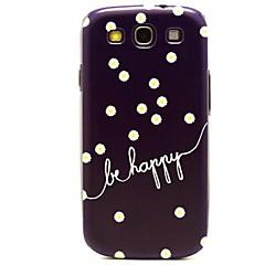 Seja feliz com Casos Margarida Flores padrão rígido de plástico para Samsung Galaxy S3 I9300