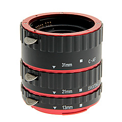 Aluminium alloy 3-Piece Macro Extension Tube Set for Canon(Gold,Silver,Red,Blue)