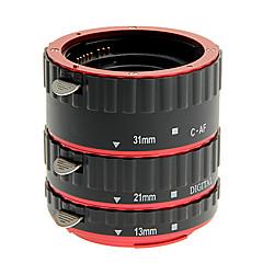 alliage d'aluminium de 3 morceaux de tube d'extension macro pour canon (or, argent, rouge, bleu)