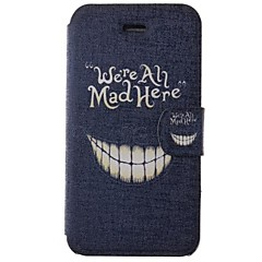 Cartoon Crazy Teeth Pattern PU Full Body Case with Card Slot for iPhone 4/4S