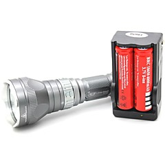 LT-QS04 Mágneskapcsoló 5 Mode 1xCree XML T6 Diving LED zseblámpa (1000LM.1x18650.Gray)