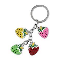 Vícebarevné Strawberry Epoxy Metal Key / Zavazadla dedukce (1ks)