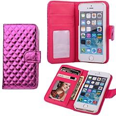 Losango caso do plutônio da bolsa de couro para o iPhone 5/5S