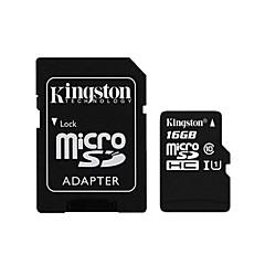 kingston 16gb microSDXC klasse 10 flash-geheugenkaart met sd adapter