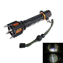 LED Flashlight Zweihnder Y51 rechargeable 5-Mode 1xCree XML-T6 antidéflagrants (1000LM, 1 x 18650, Noir)