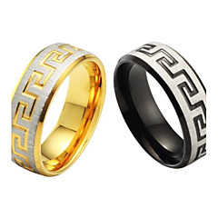 Pojedyncze drobne ziarno wysokiej jakości stali i tytanu pierścień mężczyzn