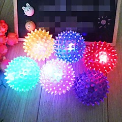 개를위한 다채로운 환경 친화적 인 고무 애완 동물 탄성 공 장난감 (불이 6 × 6cm)