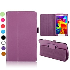 Lichee Pattern Flip Foldable Stand Auto Sleep/Wake Leather Case Samsung Galaxy Tab 4 7.0 T230(Assorted Colors)