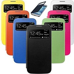Smart Wake View PU Leather Case for Samsung S4 Mini 9190 (Assorted Colors)