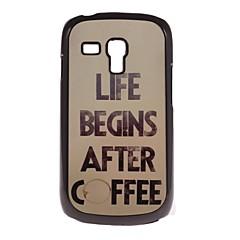 caso difícil de café do projeto de alumínio para Samsung Galaxy S3 mini-i8190
