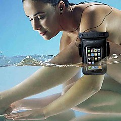 Universal Armband Waterproof Case Bag + Clear LCD Protector + Headphone Cabo de áudio para Samsung Galaxy i9100/i9300/i9500/i9600/N7100
