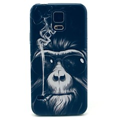 Smoking Monkey Pattern Hard Case Cover for Samsung Galaxy S5 I9600