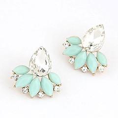 Earring Stud Earrings Jewelry Women Daily Alloy / Resin White / Blue / Pink