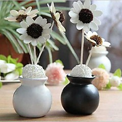 Beautiful Vase Design Ceramic A Set  Incense Burners(White And Black Color x2pcs)