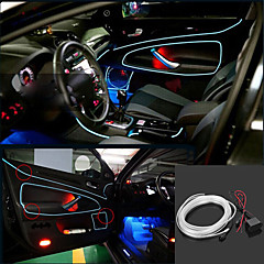 Coche flexible de control de voz Marsing 3D Decoración 2W 150lm 7500K Ice Blue Light EL Strip - (12V CC / 5 M)