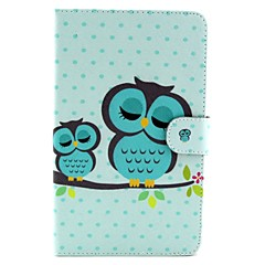 Sleeping Owl Pattern Full Body Case with Stand for Samsung Galaxy Tab 4 7.0 T230