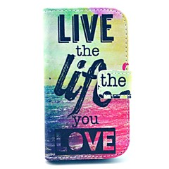 Live Sea Life Love Pattern PU Leather Cover Case with Stand for Samsung Galaxy Ace 3 S7272/S7275