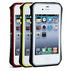 SHENGO™ Unique Titanium Metal Bumper With Soft TPU Insert Protection Designs for iPhone 4/4S