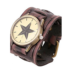 Men's Personalized Retro Leather Bracelet Watch