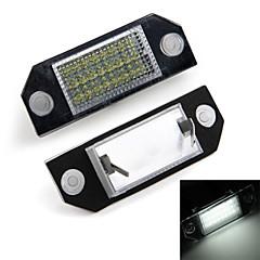 illuminazione della targa targa dell'auto bianca 24 led lampadine luci per ford focus 2 c-max
