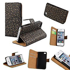 Court Style PU Leather Full Body Case with Stand and Card Slot for iPhone 4/4S