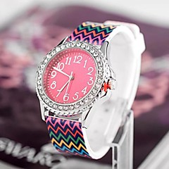 Women's Fashion Personality Leisure Stripe Set Auger Watch