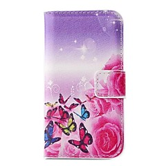 Beautiful Butterfly PU Leather Full Body Case with Card Slot for Samsung Galaxy Note 3 Lite N750 / Neo N7505