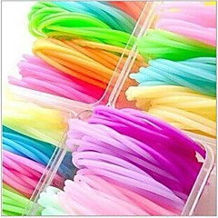 Fluorescence Silicone Friendship Bracelet(Multicolor)(10Pc)